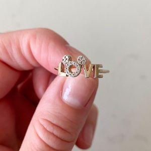Crislu Disney Mickey LOVE ring Women's size 6 1/2